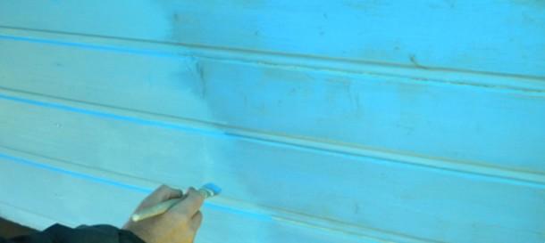 La Roulotte des Amis peinture Bleu
